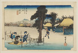 Woodblock print - Minakuchi (Meibutsu kanpyō)