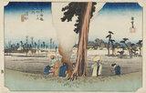 Woodblock print - Hamamatsu (Fuyugare zu)