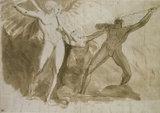 Recto: Satan, Sin and Death Verso: Similar stud