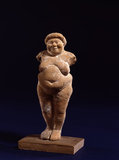 Terracotta figurine of a fat woman