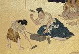 Screen depicting the four classes of Edo Japan