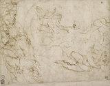 Recto: Design for the lower Portion of a Composition of the Resurrection