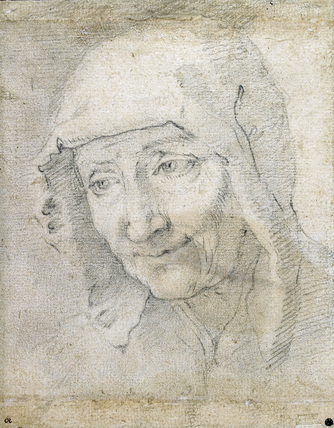 Head of an old Woman, turned three-quarters to the left