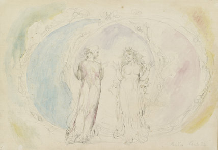 Beatrice and Dante in Gemini, amid the Spheres of Flame