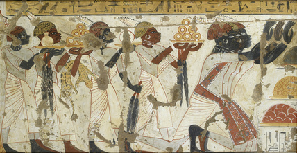Nubians bringing gold rings as a tribute
