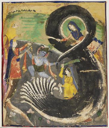 Krsna and the naga Kaliya
