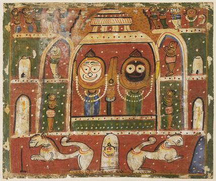 Jagannatha Triad in the shrine at Puri