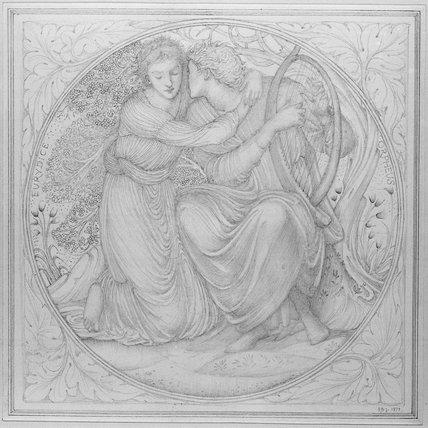 Orpheus playing to Eurydice