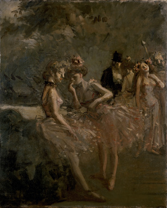 Scene in the Wings of a Theatre