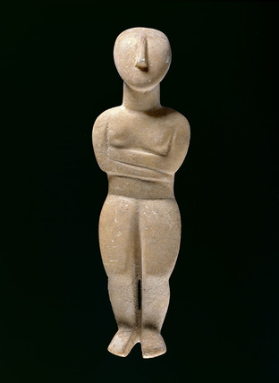 Female figurine with folded arms
