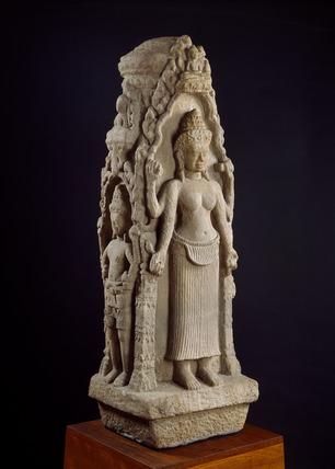 Chaitya shrine with images of Prajnaparamita and other deities