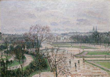 The Tuileries Gardens, Rainy Weather