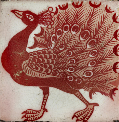 Tile with Peacock