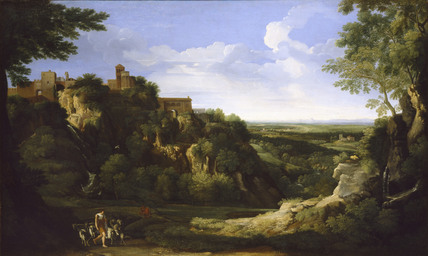 View of Tivoli with Rome in the distance