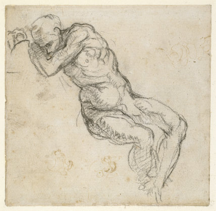 A nude Man sleeping