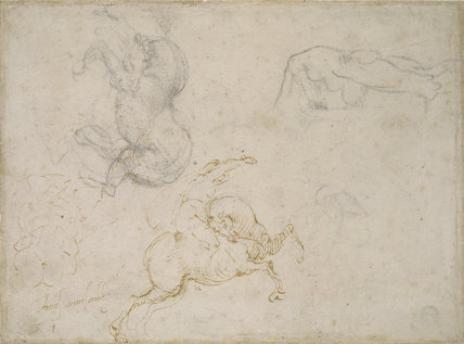 A Horseman charging and other Studies