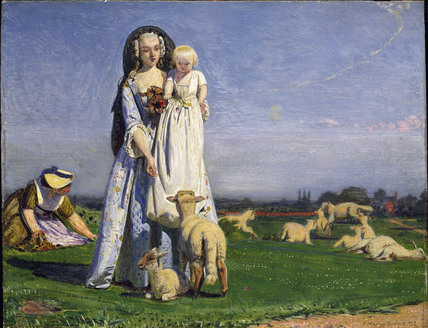 The Pretty Baa Lambs By Ford Madox Brown At Ashmolean Museum