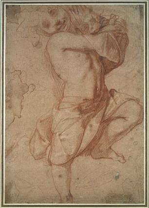 Semi-nude Boy