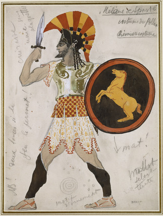 Design for Pollux's Costume in 'Hélène de Sparte'