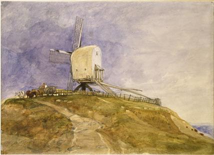 A Windmill on a Hill at ?Eye, Suffolk