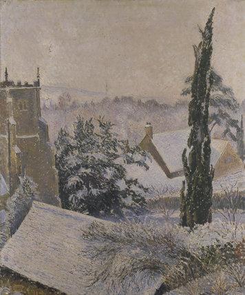 East Knoyle Church: Snow