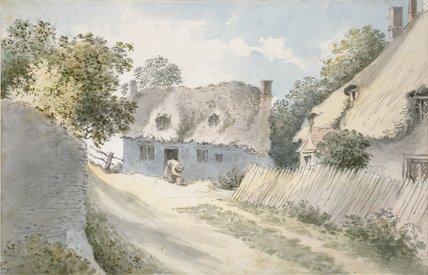Cottages in a Village Street