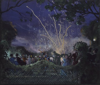 Fireworks By Konstantin Andreevich Somov At Ashmolean Museum