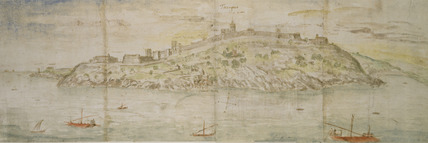 Panoramic View of Tarragona from the South (Seawards)