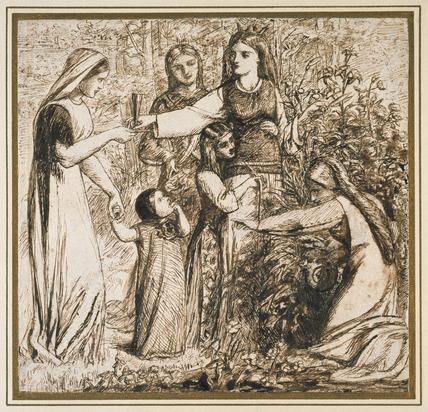 Dante's Vision of Matilda gathering flowers