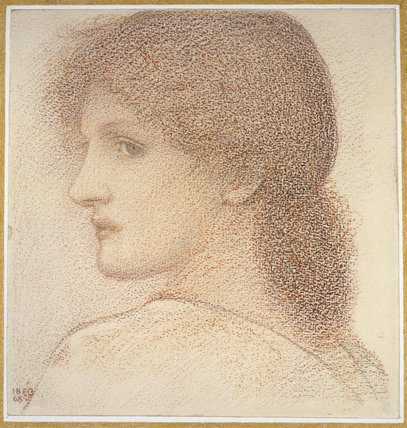 Study of a Woman's Head, turned to Left
