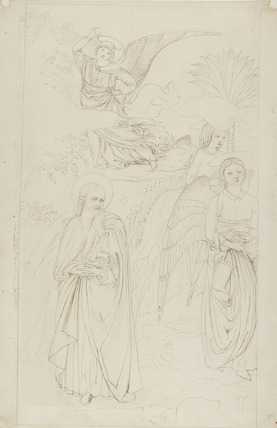 Outline of a fresco at Pisa: Abraham parting from the Angels