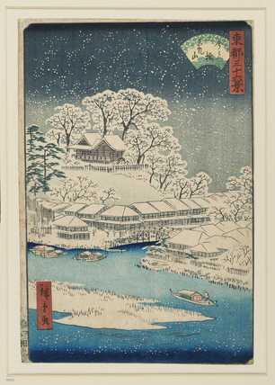 Woodblock print - Imado Bridge and Matsuchi Hill (Imado Bashi Matsuchiyama)