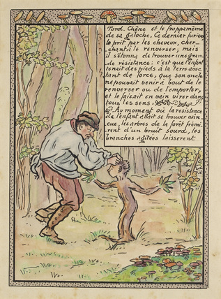The uncle attacks the boy who becomes rooted to the ground from 'La Reine des Poissons'