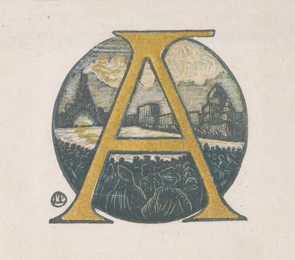 Letter A from 'Gerard de Nerval: Histoire de la Reine du Matin & de Soliman Prince des Geniés'