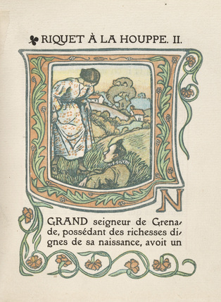 Opening page from 'Riquet à la Houppe'