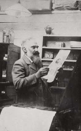 Lucien Pissarro in his Studio