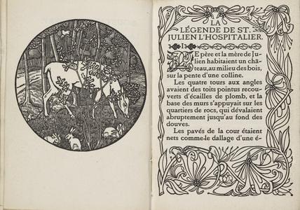 Frontispiece from 'Gustave Flaubert: Legende de Saint Julien Hospitalier'