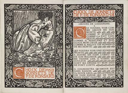 Frontispiece and Title Page for 'Choix de Sonnets de P. de Ronsard'