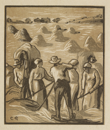 Haymaking from 'Émile Moselly: La Charrue d'Erable Paris le Livre Contemporain'