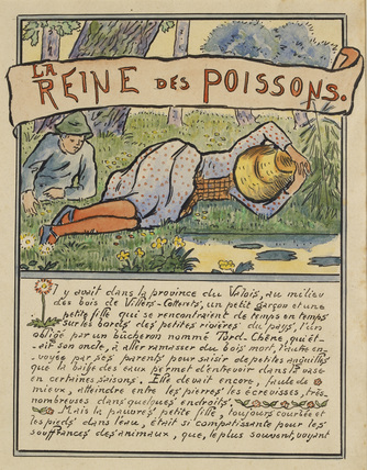 The woodcutter's nephew with the fisher-girl from 'La Reine des Poissons'