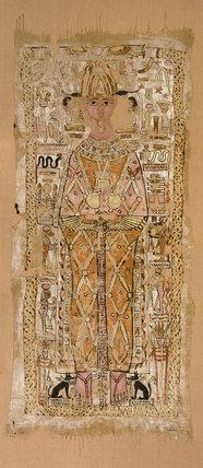 Shroud of Nespawtytawy, inscribed in hieroglyphs