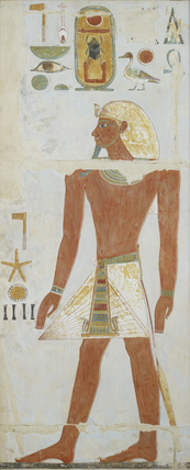 Copy of wall painting, Deir el Bahri Great Temple, Chapel of Anubis