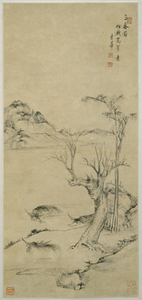 Landscape with water buffalo