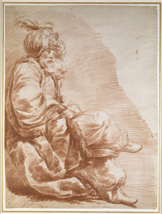 Seated Figure, dressed for a Turkish Masquerade