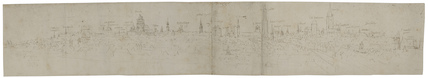 Study for the left-hand Portion of a View of Bruges from the South-West