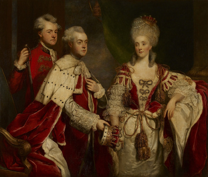 George, 2nd Earl Harcourt, his wife Elizabeth, and brother William