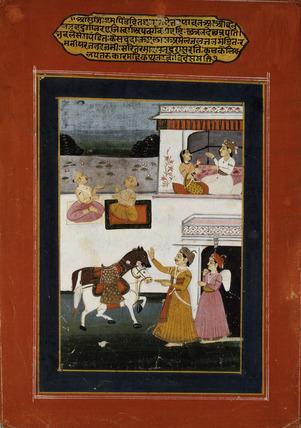 Courtly scene - Baramasa painting