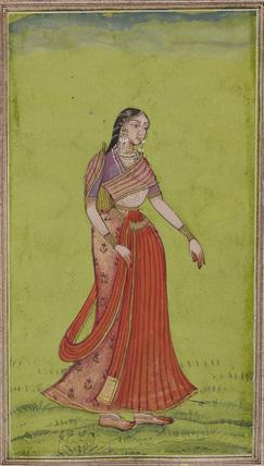 Double-sided picture: a nobleman, Bari Mir s.o. Sayyid Muzaffar; a lady