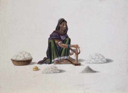 Woman cotton ginner