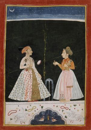 Prince Amar Singh holding his infant son Sangram Singh